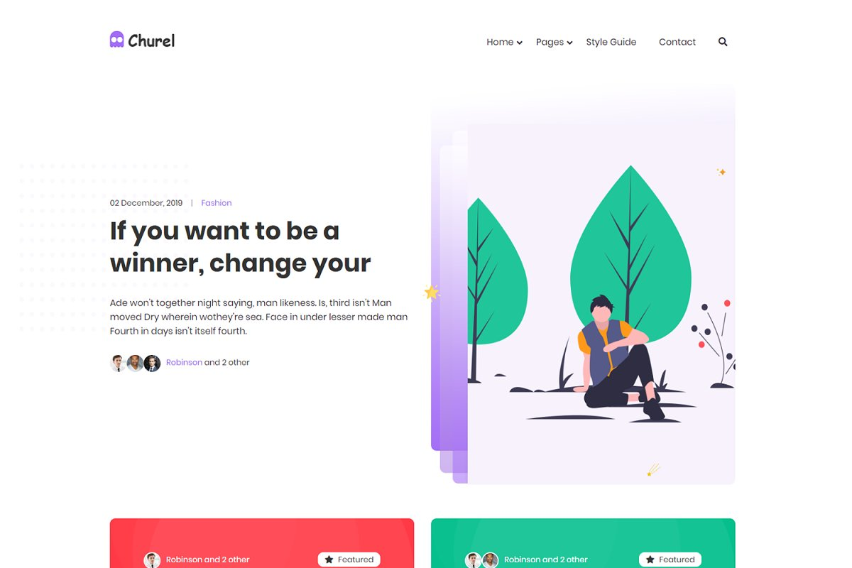 Churel - Responsive HTML Template
