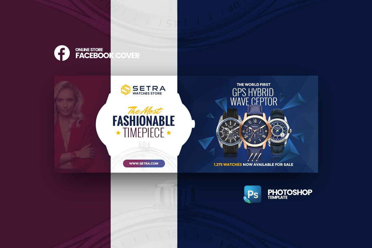 Setra - Watches FB Cover Template