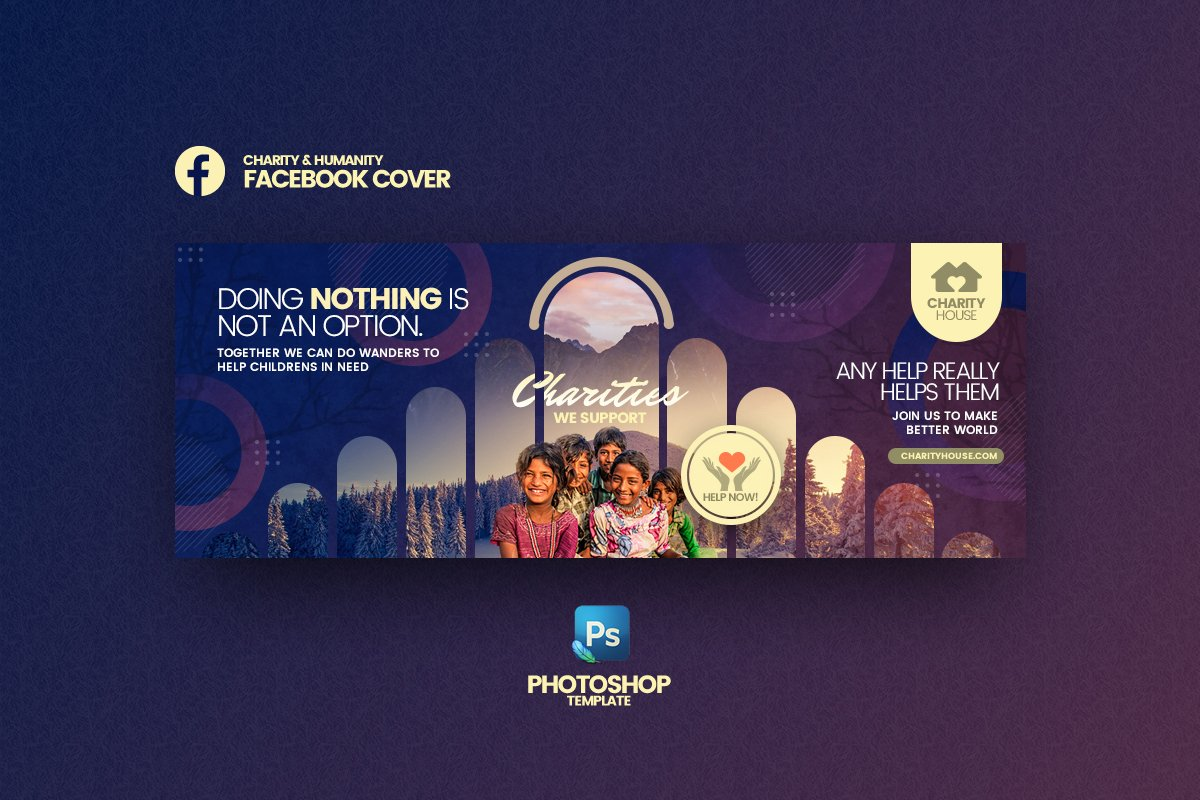 Charity House FB Cover Template