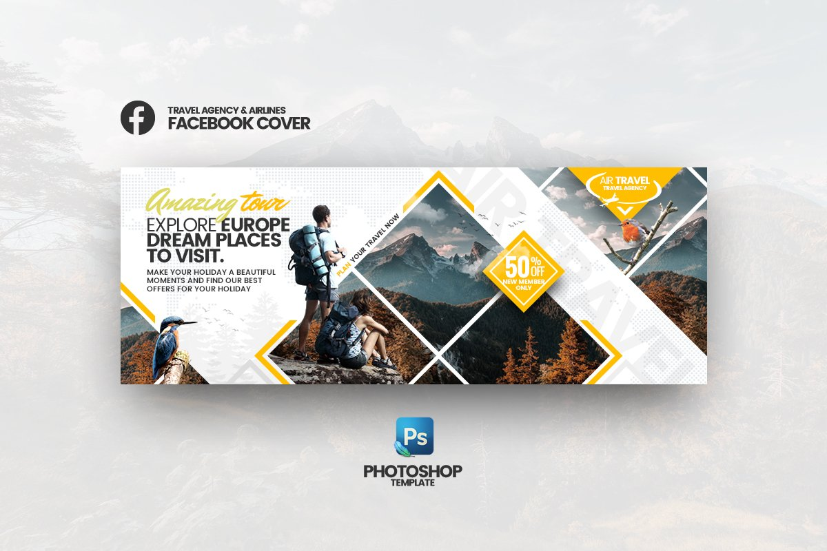 AirTravel Facebook Cover Template