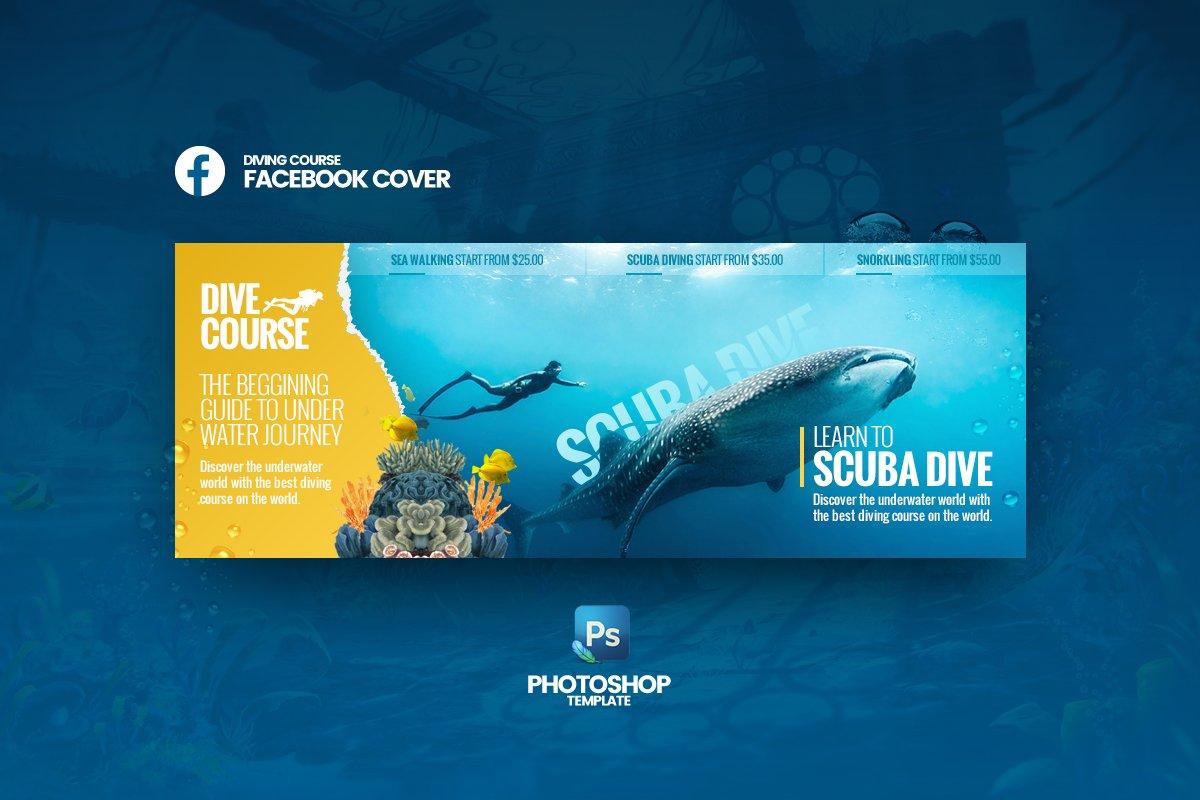 DiveCourse Facebook Cover Template