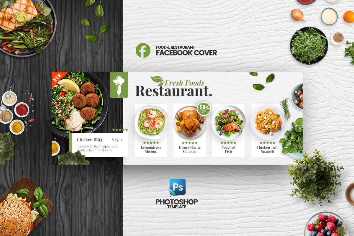 Food Facebook Cover Template