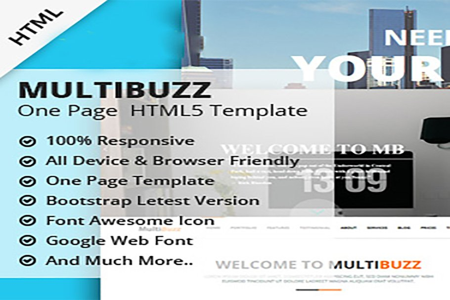 MULTIBUZZ ONE PAGE HTML5 TEMPLATE