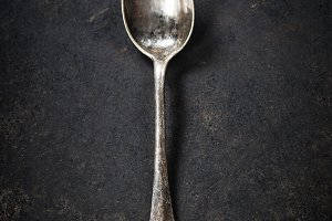 Vintage metal spoon
