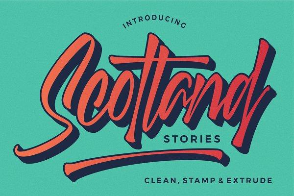 Best 50%OFF | Scotland stories font Vector