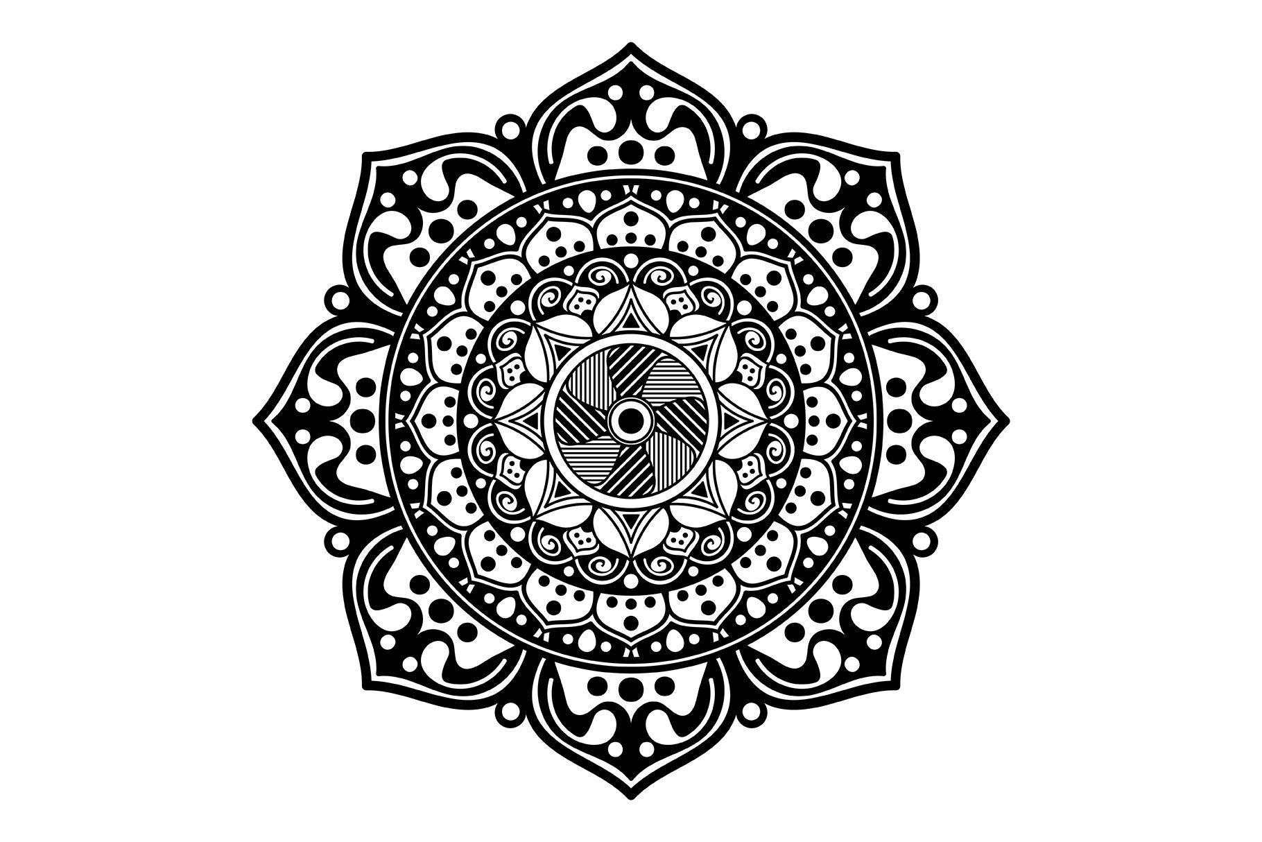 Mandala pattern black and white   Custom-Designed Graphic ...