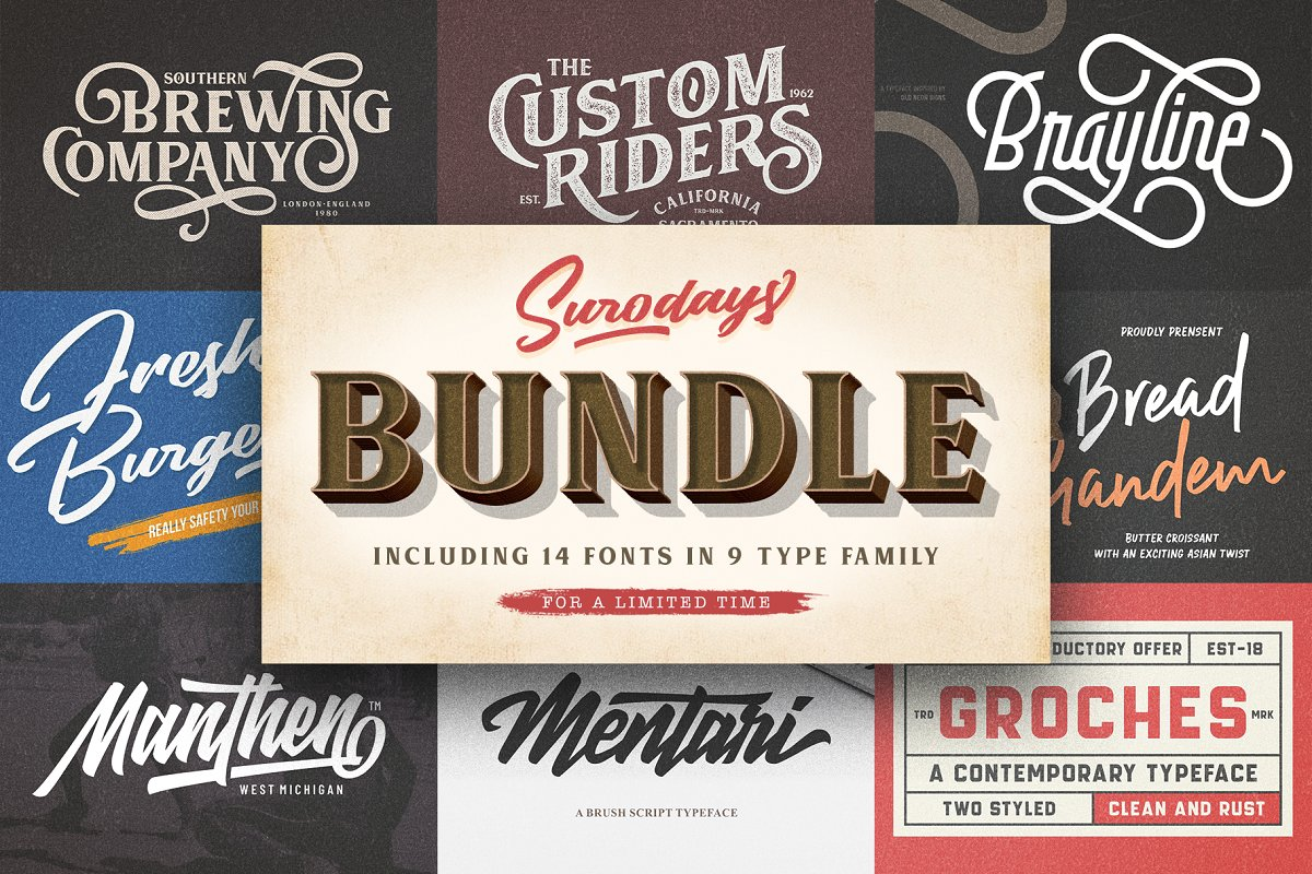Surodays Bundle - Font Collection