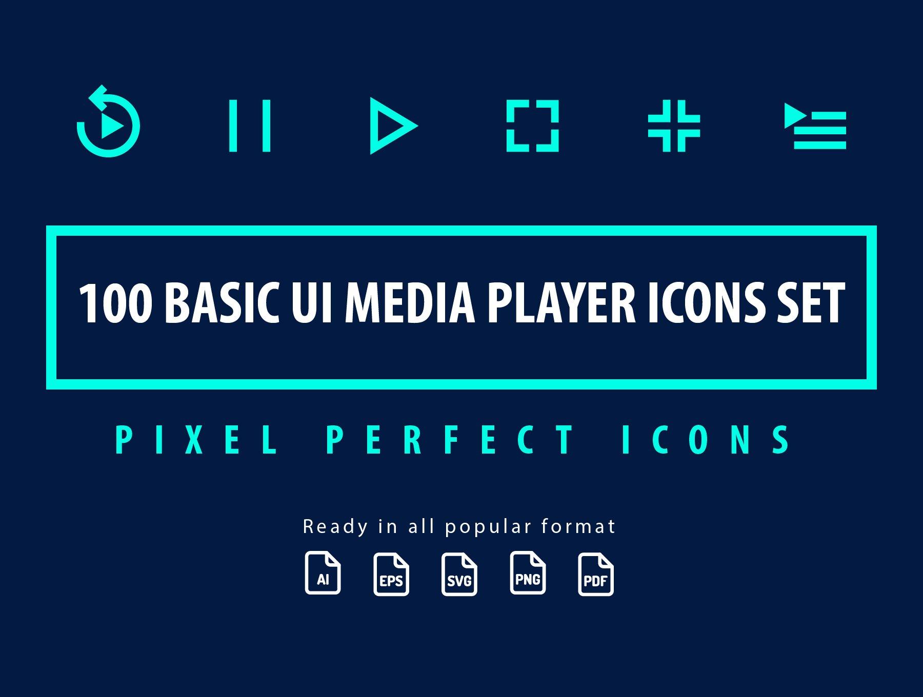 Basic Media Player ~ Icons ~ Creative Market
