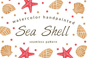 The Sea Shell Seamless Pattern