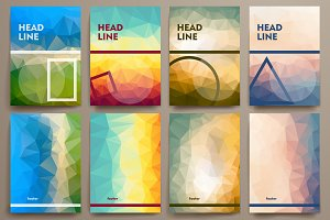 Abstract brochures in poli style.