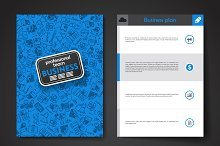 Vector business template with doodle