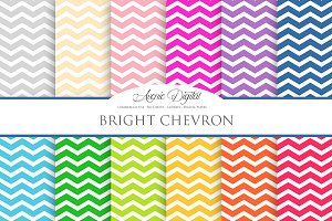 Bright Chevron Digital Paper