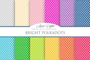 Bright Polkadot Digital Paper