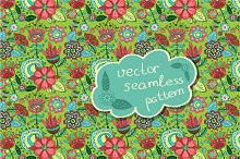 "seamless pattern ""Magic garden"""