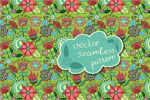 "seamless pattern ""Magic garden"""