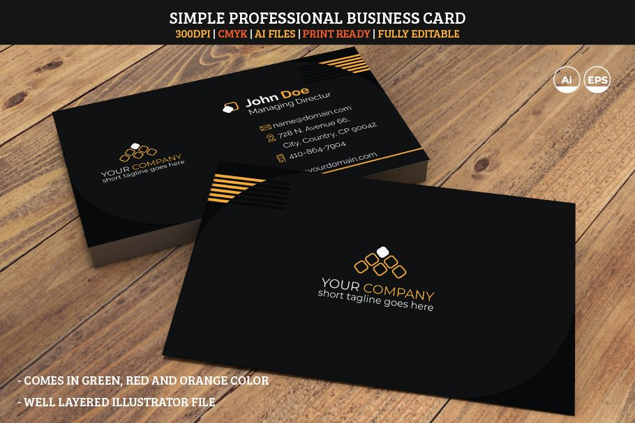 Simple Professional Business Card 01
