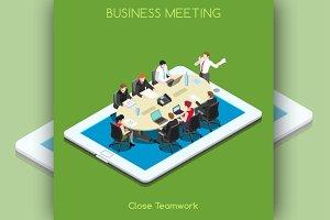 Startup Teamwork Tablet Meeting