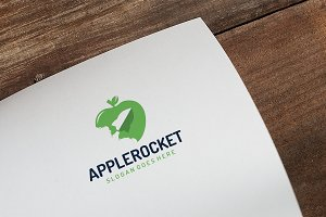 Food Apple Rocket Logo