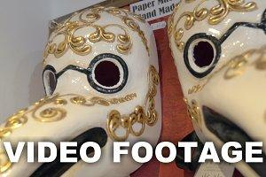 Vintage Venetian bird masks store