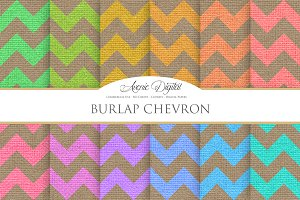 Burlap Chevron Textures