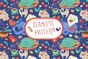 "Seamless pattern ""Dreams"""