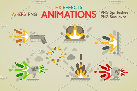FX Effects Animations ~ Illustrations ~ Creative Market