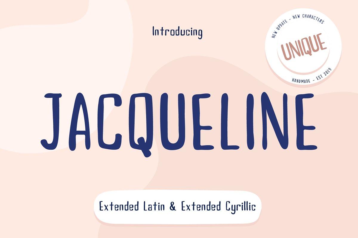 Jacqueline Fonts (Cyrillic & Latin) ~ Script Fonts