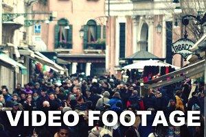 Crowded Venetian street