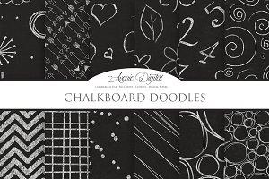 Chalkboard Doodles Digital Paper