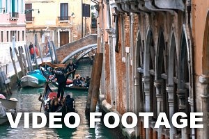 Sightseeing on gondolas in Venice