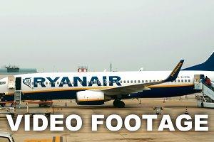 Passenger plane boarding