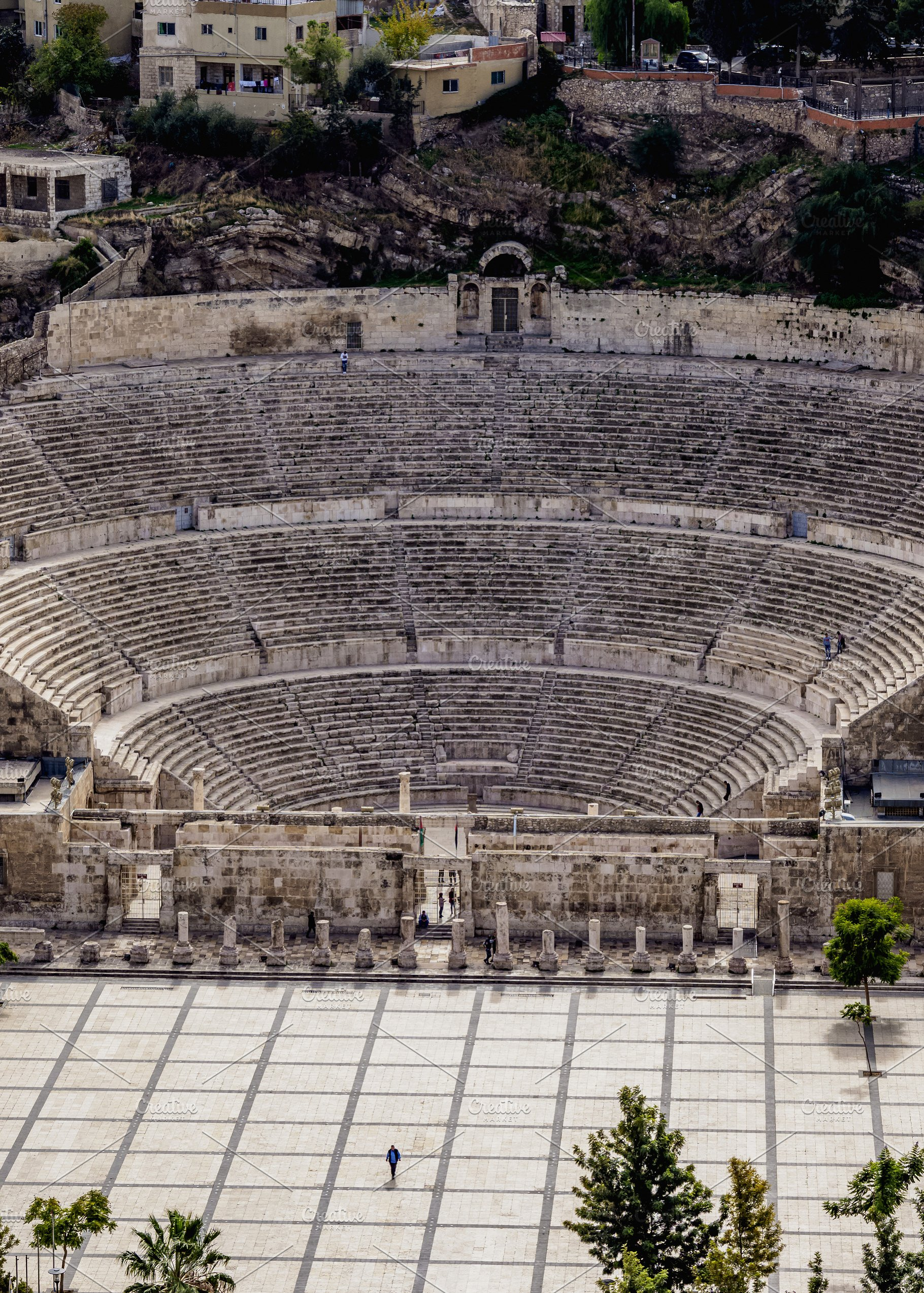 Roman Theater In Amman Jordan