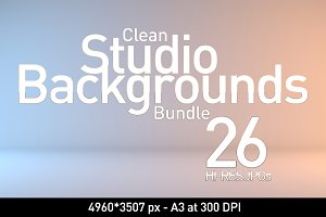 26 Clean Studio Backgrounds Bundle