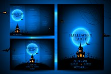 Set of flyers for halloween