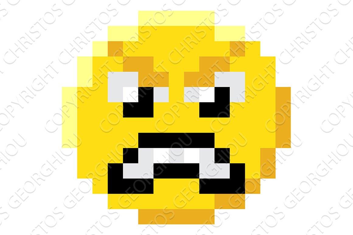 Emoticon Face Pixel Art 8 Bit Icon