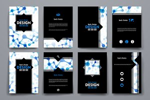 Set of brochures  in DNA style