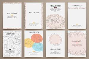 Doodle Halloween brochures.