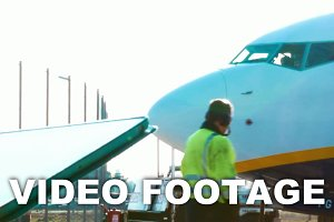 Woman chatting on tablet PC