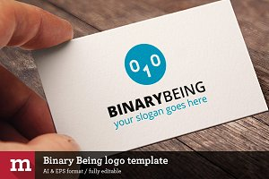Binary Being logo template
