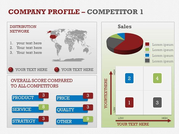 Company profile powerpoint template presentation templates company profile powerpoint template presentation templates creative market toneelgroepblik Image collections