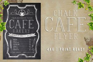 Chalk Cafe Flyer Menu
