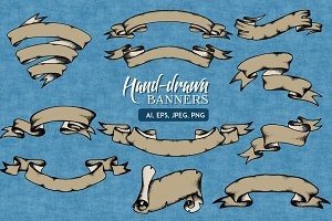 Hand-Drawn Banners