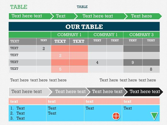 Table 1 powerpoint template presentation templates creative market toneelgroepblik Image collections