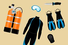 Diving Equipment Set