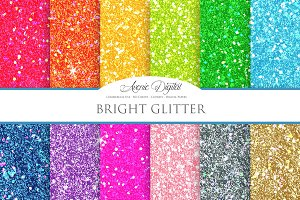 Bright Glitter Digital Paper
