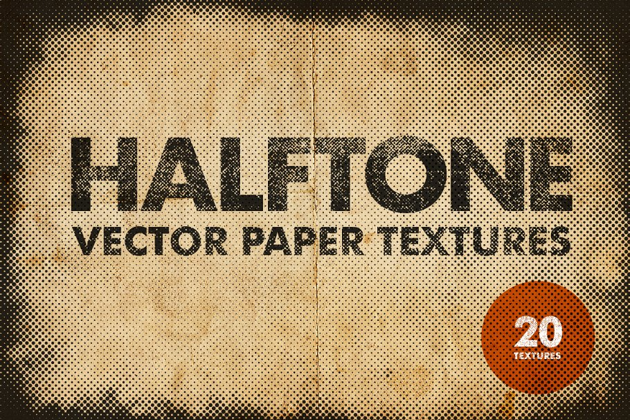 Halftone Vector Paper Textures