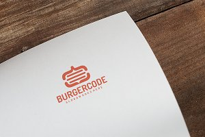 Food Burger Code Logo