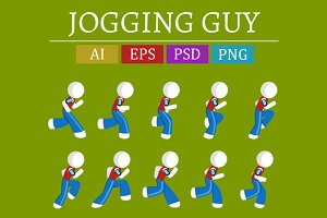 Jogging  Guy Sprite Sheet
