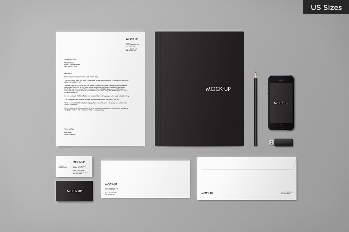Stationery mock up us sizes product mockups creative for Design my office online