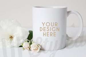 F151 White Coffee Mug Mock Up